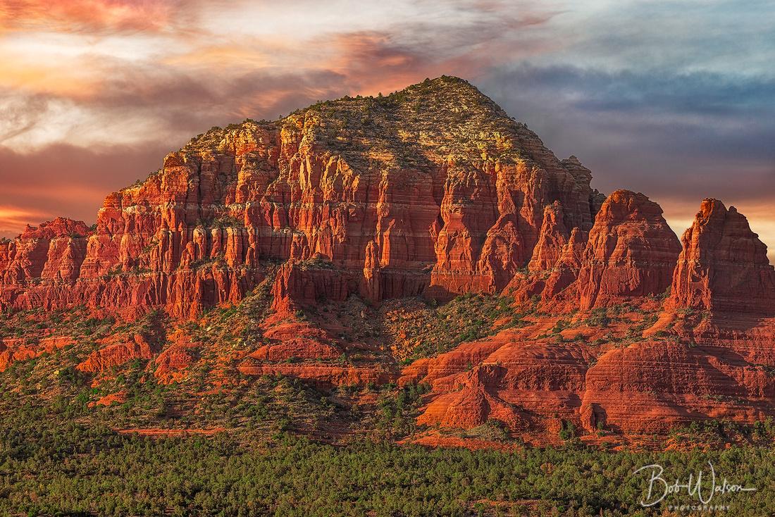 """Red Rock Brillance"". Sedona, Arizona at Sunset"