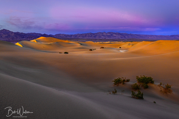 """Last Light"", Mesquite Flat Sand Dunes, Death Valley National Park, California"