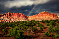Rainbow Over Capitol Reef National Park, Utah