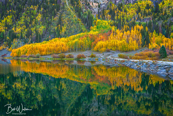 Autumn Sunrise at Crystal Lake, Uncompahgre National Forest, San Juan Mountains, Colorado