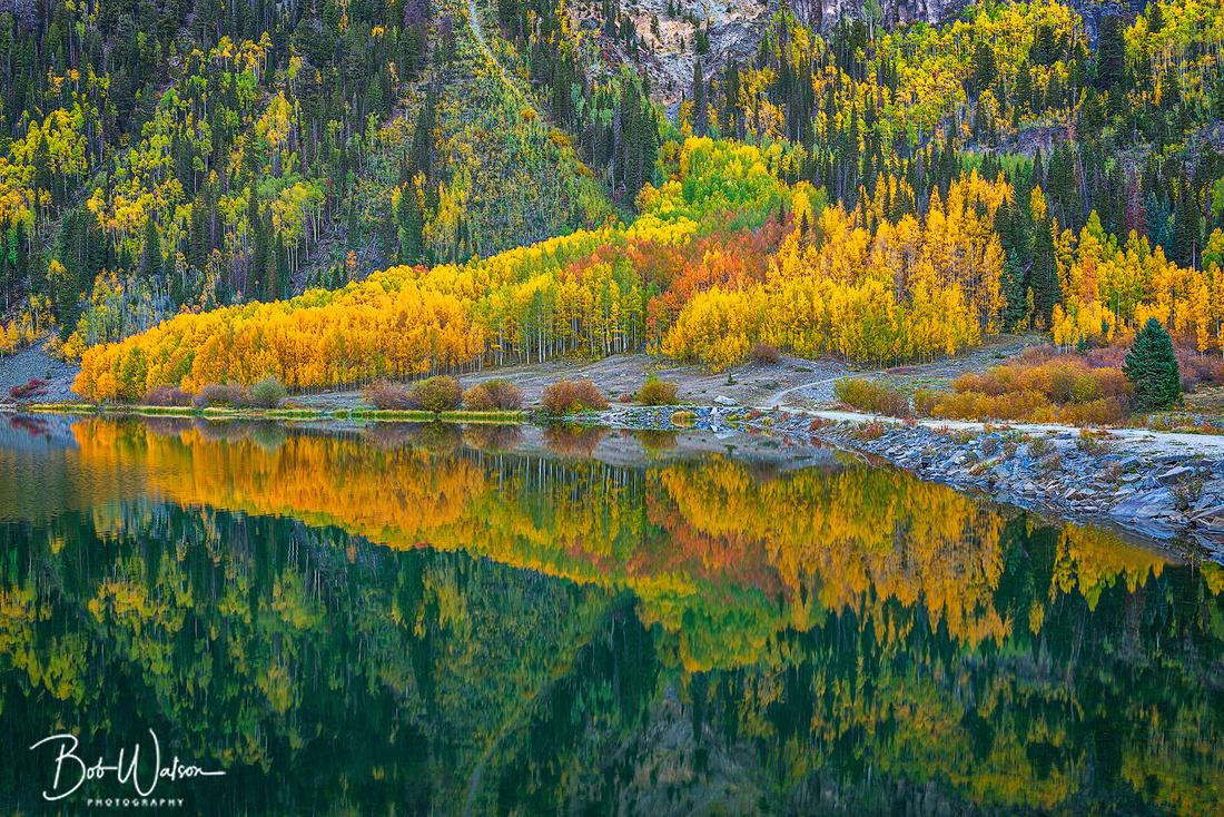 Autumn Sunrise at Crystal Lake, Uncompahgre National Forest, San Juan Mountains, Colorado