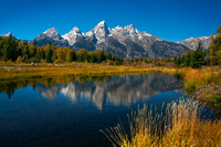Autumn from Schwabacher Landing, Grand Teton National Park, Wyoming