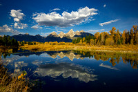 Autumn morning as viewed from Schwabacher Landing, Grand Teton National Park