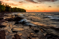 Sunset at Lake Superior, Michigan's Upper Peninsula.