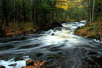 Autumn comes to Kakabika Falls, Ottawa National Forest, Michigan's Upper Peninsula