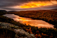 Morning Sunrise at Lake Of The Clouds, Porcupine Mountains Wilderness State Park, Michigan's Upper Peninsula.