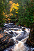 Autumn at Canyon Falls, Sturgeon River, Michigan's Upper Peninsula