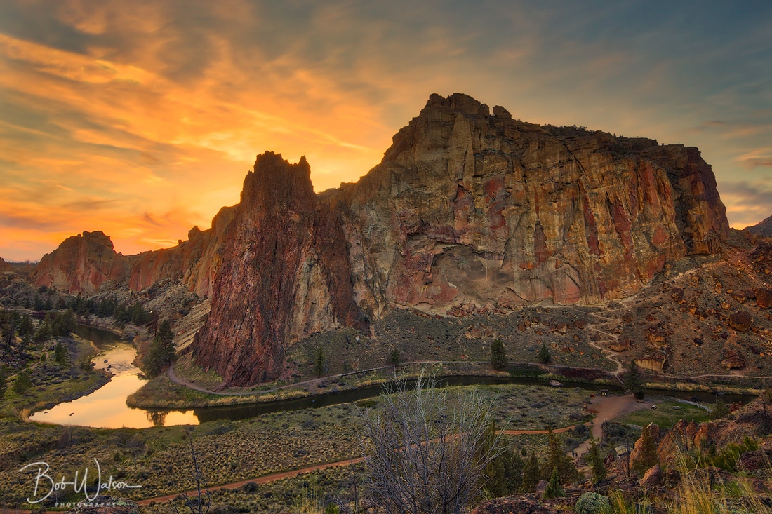 Smith Rock and Crooked River, Smith Rock State Park, Terrebonne, Oregon